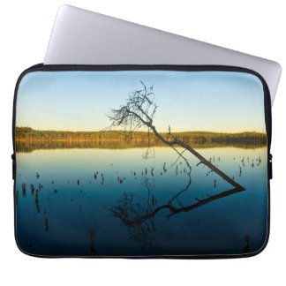 Blue lake laptop sleeve