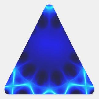 Blue laser #2 triangle sticker