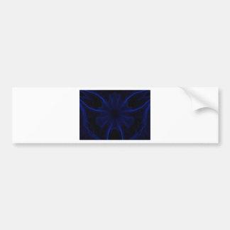 blue laser pattern bumper sticker