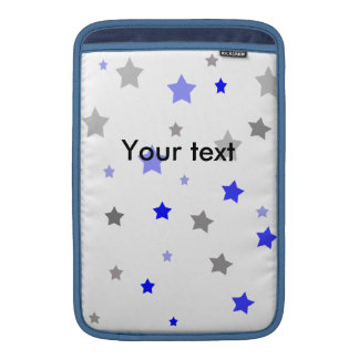 Blue, light blue and grey stars pattern sleeve for MacBook air