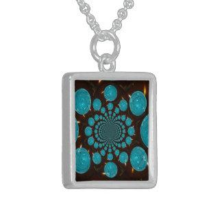 Blue Lights Sterling Silver Necklace