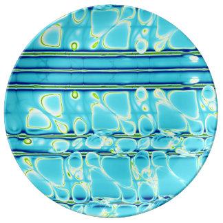 Blue Like Water Porcelain Plate
