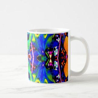 Blue Lilly Like Coffee Mug