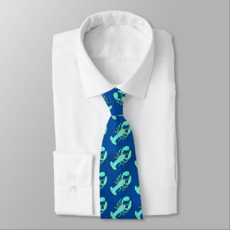 Blue Lobster Necktie