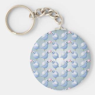 Blue Love Birds Keychain