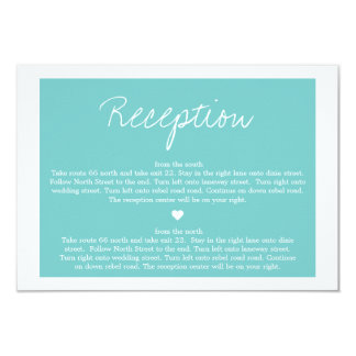 Blue Love  Wedding Direction Reception Cards
