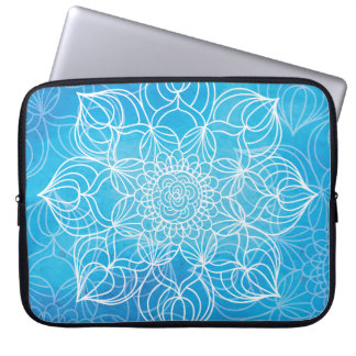 Blue Mandala Laptop Computer Sleeves