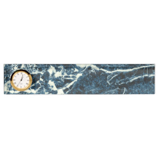 Blue marble desk nameplate
