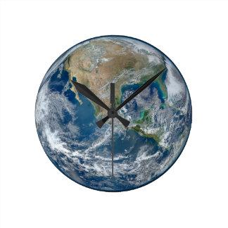Blue Marble Planet Earth North America Mexico Wallclocks