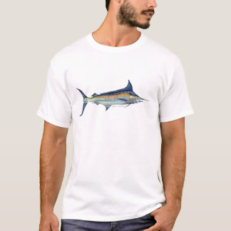blue marlin fish painting T-Shirt