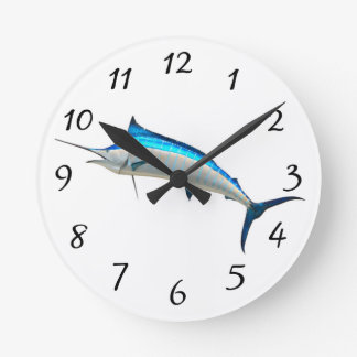 Blue Marlin Round Clock