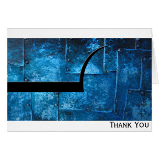 Blue Metal Plates Card