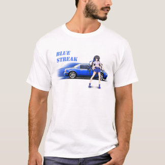 Blue Miata - with anime girl T-Shirt