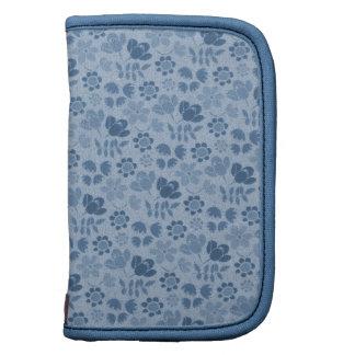 Blue Mini Flowers Folio Planner