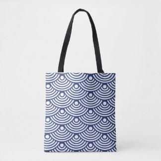 Blue Modern Waves Tote Bag