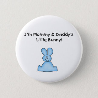 Blue Mommy and Daddy's Little Bunny T-shirts 6 Cm Round Badge