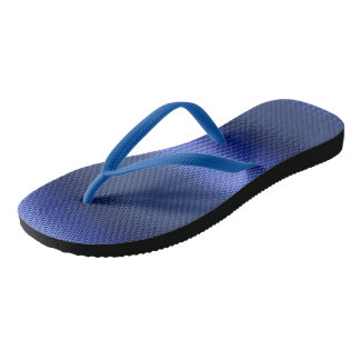 Blue monochromatic stripe frosted STRIPE06 Thongs