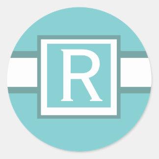 Blue Monogram Sticker