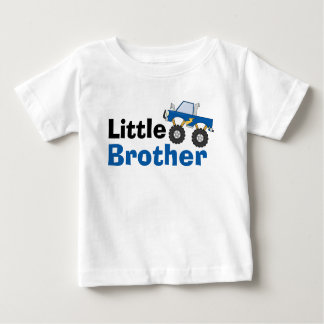 Blue Monster Truck Little Brother Baby T-Shirt