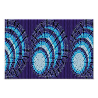 BLUE MOON Wall Decorations Print on Cotton Fabric