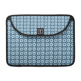 Blue Moroccan Symetry Pattern Sleeve For MacBook Pro