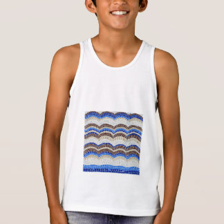 Blue Mosaic Kids' Tank Top