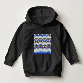 Blue Mosaic Toddler Pullover Hoodie