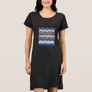 Blue Mosaic Women's T-Shirt Dress