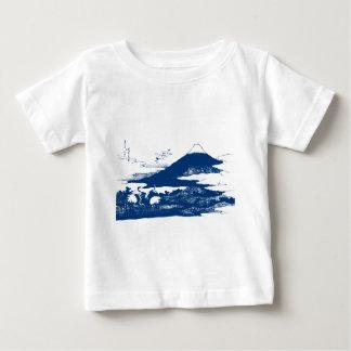 Blue Mount Fuji Baby T-Shirt