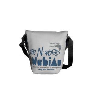 Blue N-word Nubian Mini Messenger Bag