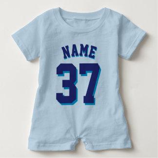 Blue & Navy Baby | Sports Jersey Baby Bodysuit