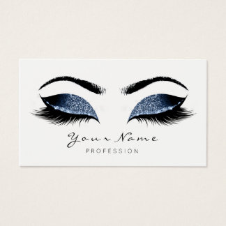 Blue Navy Makeup Artist Lashes Beauty Studio Business Card