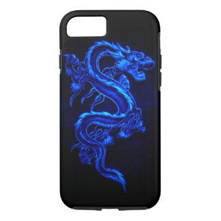 "BLUE NEON DRAGON ""DRAGA"" iPhone 8/7 CASE"