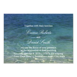 Blue Ocean Beach Destination Wedding Invitations