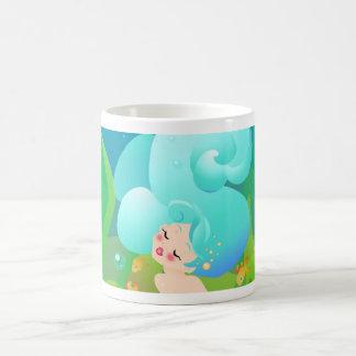 Blue Ocean Mermaid Classic White Coffee Mug