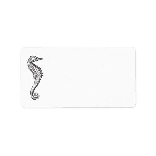 Blue Ocean Seahorse | Personalised Blank Address Label