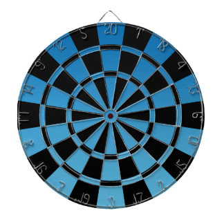 Blue Ombre And Black Dartboard With Darts
