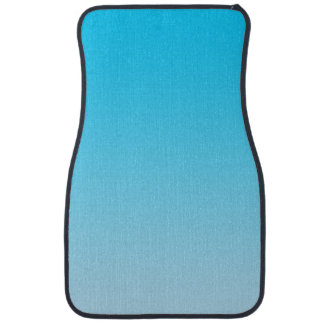 """Blue Ombre"" Floor Mat"