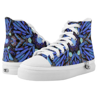 Blue opal bloom printed shoes