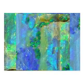 Blue Opal October Birthstone by Sharles Postcard