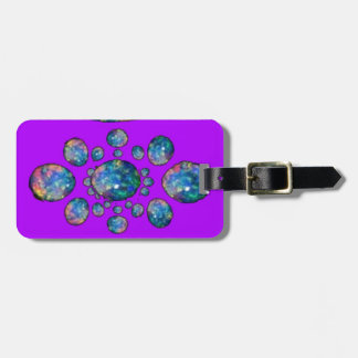 Blue Opal on Purple Gifts by Sharles Luggage Tag