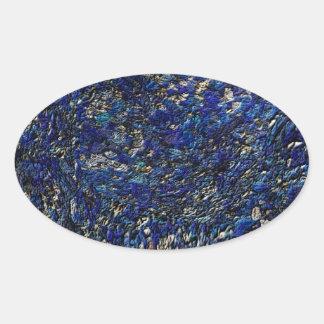 Blue opal oval sticker