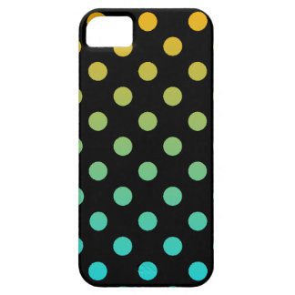 Blue Orange Polka Dot iPhone 5 Cases