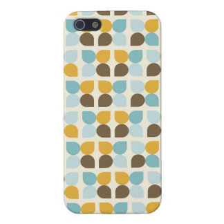 Blue Orange Tan Fall Colors Leaf Pattern Case For iPhone 5/5S