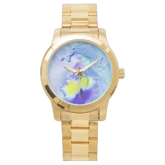 Blue Orchid flower Watches