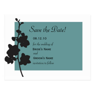 Blue Orchid Save the Date Postcard