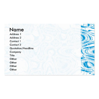 Blue organic abstract pack of standard business cards