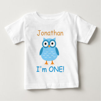 Blue Owl 1st Birthday For Him A03 Baby T-Shirt