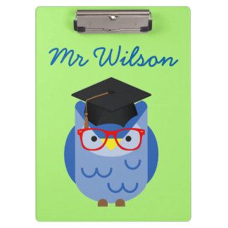 Blue Owl Teacher Customisable Clipboard