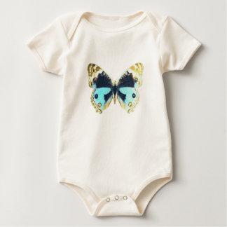 Blue Pansy Butterfly Baby Bodysuit